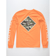 SALTY CREW Tippet Cover Up Orange Mens T-Shirt