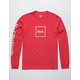 HUF Domestic Red Mens T-Shirt