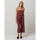 CHANCE Burgundy Stripe Tube Womens Jumpsuit