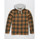ELEMENT Miller Brown Mens Hooded Flannel Shirt