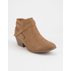 SODA Portia Tan Womens Booties