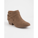 SODA Sweeten Brown Womens Booties