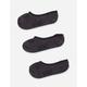 VANS 3 Pack Basic Black Girls Canoodle Socks