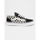 VANS Checkerboard Primary Check Old Skool Black & White Kids Shoes