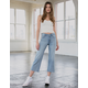 RSQ Wide Leg Light Wash Womens Crop Jeans