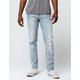 RSQ New York Rip N Repair Mens Slim Straight Jeans