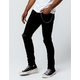 RSQ Seattle Chain Ripped Black Mens Skinny Tapered Jeans