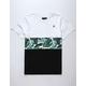 ASPHALT Blue Tropic Triblock Boys T-Shirt