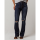 SKY AND SPARROW Ripped Womens Flare Jeans