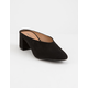 QUPID Low V Vamp Heel Women Mules