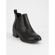 CITY CLASSIFIED Chelsea Black Womens Booties