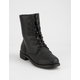 WILD DIVA Lace Up Black Womens Combat Boots