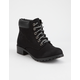 SODA Equity Black Womens Work Boots