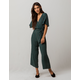 SKY AND SPARROW Surplice Stripe Womens Jumpsuit