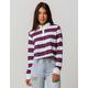 FULL TILT Stripe Red Crop Womens Polo Shirt