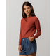 OTHERS FOLLOW Cable Knit Sleeve Womens Crop Sweater