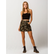 ALMOST FAMOUS Camo Button Front Mini Skirt