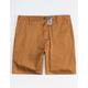 BLUE CROWN Slim Tobacco Mens Chino Shorts
