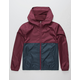 INDEPENDENT TRADING COMPANY Lightweight Maroon & Navy Boys Windbreaker