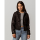 IVY & MAIN Fleece Hood Womens Faux Leather Jacket