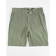 VALOR Pigment Dyed Olive Boys Hybrid Shorts