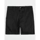 BLUE CROWN Black Boys Chino Shorts