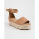 BAMBOO Scallop Espadrille Tan Womens Platform Sandals