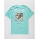 RIOT SOCIETY Tiger Blossom Mint Mens T-Shirt