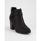 DELICIOUS Ottoman Womens Heeled Booties