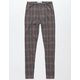 WHITE FAWN Plaid Double Knit Girls Leggings
