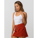 BOZZOLO Ribbed Scoop Neck White Womens Crop Tank Top