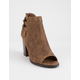 SODA Taxi Brown Womens Heeled Booties