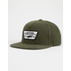 VANS Full Patch Green Mens Snapback Hat