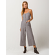 MIMI CHICA Button Front Stripe Womens Jumpsuit