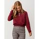 FULL TILT Half Zip Burgundy Womens Crop Sweatshirt