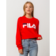 FILA Logo Womens Crop Tee