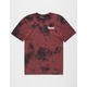 PRIMITIVE Campbell Burgundy Mens T-Shirt