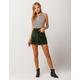 SKY AND SPARROW Button Up Corduroy Mini Skirt