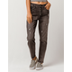 IVY & MAIN Exposed Button Womens Ripped Mom Jeans