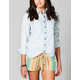 FULL TILT Womens Blasted Chambray Shirt