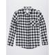 VSTR Check Yoself Black & White Mens Flannel Shirt