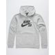 NIKE SB Icon Gray & Black Mens Hoodie