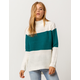 POOF Color Block Womens Sweater