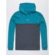 RVCA Center Front Blue & Gray Mens Lightweight Hoodie
