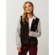 SKY AND SPARROW Fleece Sleeve Womens Ripped Denim Jacket