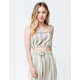 AMUSE SOCIETY Catch My Drift Palm Green Womens Crop Top