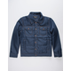 MEMBERS ONLY Textured Navy Mens Trucker Jacket