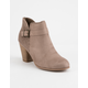 SODA Iceage Taupe Womens Heeled Booties