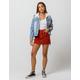 RSQ Exposed Button Corduroy Mini Skirt