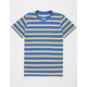 BLUE CROWN Simple Stripe Blue & Yellow Mens T-Shirt